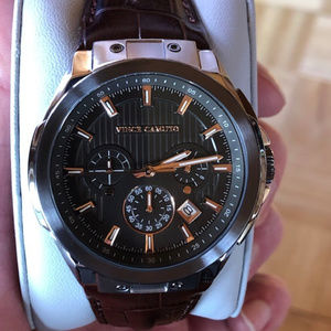 Vince Camuto NWT Men's Chronograph Leather Watch